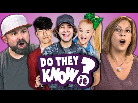 Do Parents Know YouTube Stars? #4 (React: Do They Know It?)