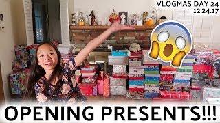 OPENING PRESENTS!!! VLOGMAS DAY 24   Nicole Laeno