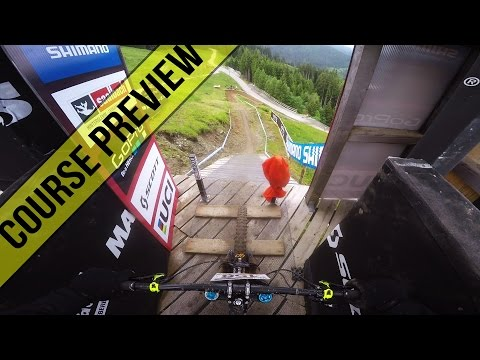 Downhill World Cup Leogang 2016 Course Preview - Fabio Wibmer