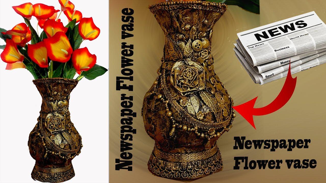 How to make newspaper flower vase altered vase best from waste how to make newspaper flower vase altered vase best from waste flower pot reviewsmspy