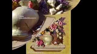 ВЫШИВКА ЛЕНТАМИ-Ribbon embroidery Цветы в окне