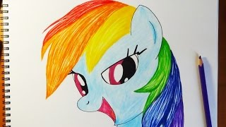 Как нарисовать пони Радуга Дэш, How to draw Pony Rainbow Dash, Como dibujar pony Rainbow Dash(How to draw My Little Pony characters, draw pony, draw mlp, draw MLP, как рисовать пони, как нарисовать пони, pony drawing Music used: Sunlight by Per ..., 2014-07-19T03:28:34.000Z)