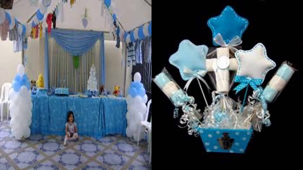 Ideas para baby shower de ni o youtube for Mesa de dulces para baby shower nino