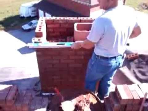how to build a brick chimney video