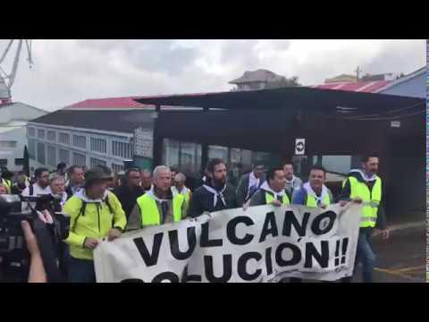 Los trabajadores de Vulcano inician una marcha a Santiago
