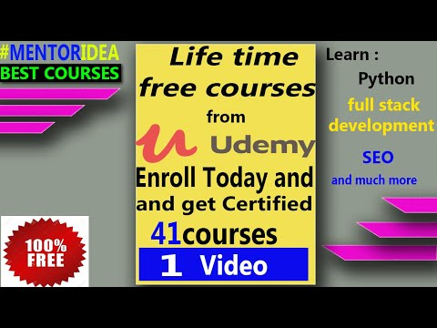 Premium Free Udemy courses with certificate with Lifetime