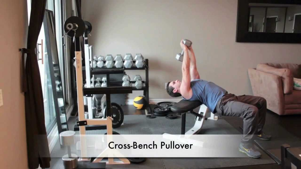 Dumbbell Back Exercises - Cross Bench Pullover - YouTube