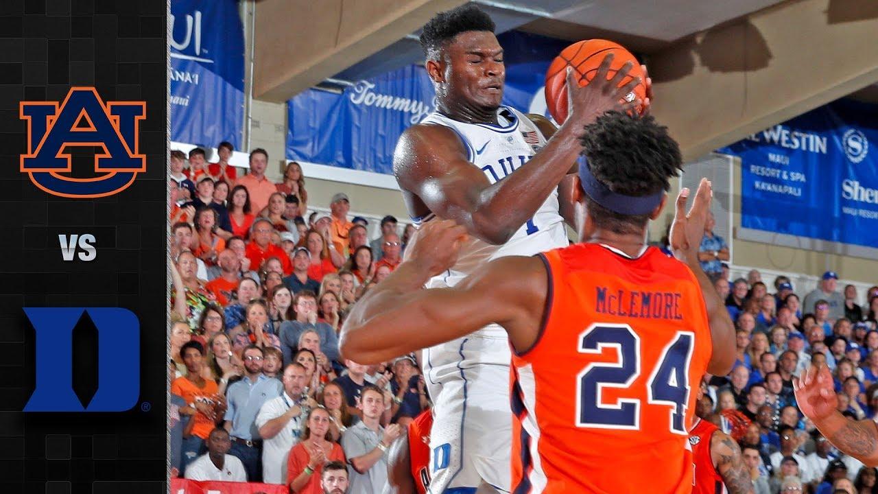 Auburn Vs Duke Basketball Highlights 2018 19