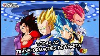 Conheça Todas as Transformações do Vegeta