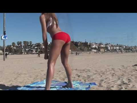 Fitness HOT! Girl's Bikini Butt and Legs Beach