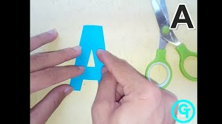 DIY Basic Letter Cutting for Beginners from A to Z (UPPERCASE)