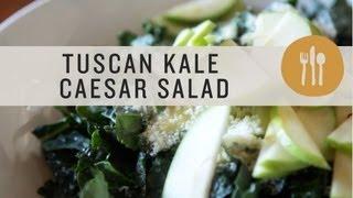 Tuscan Kale Caesar Salad - Superfoods
