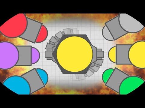 STRONGEST EVER HYBRID TANK VS DOMINATOR!! | Diep.io New Hybrid Insane Highscore! | Funny Moments!