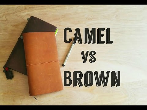 [Midori] Traveler's Notebook- Camel vs Brown