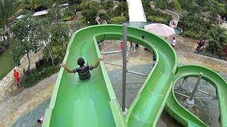 Little Green Water Slide at Jogja Bay Waterpark