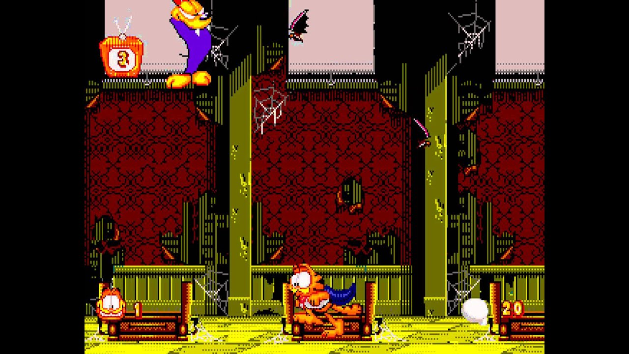 Garfield Caught In The Act Gen Garfield Vs Vampire Odie Perfect Halloween Death Youtube