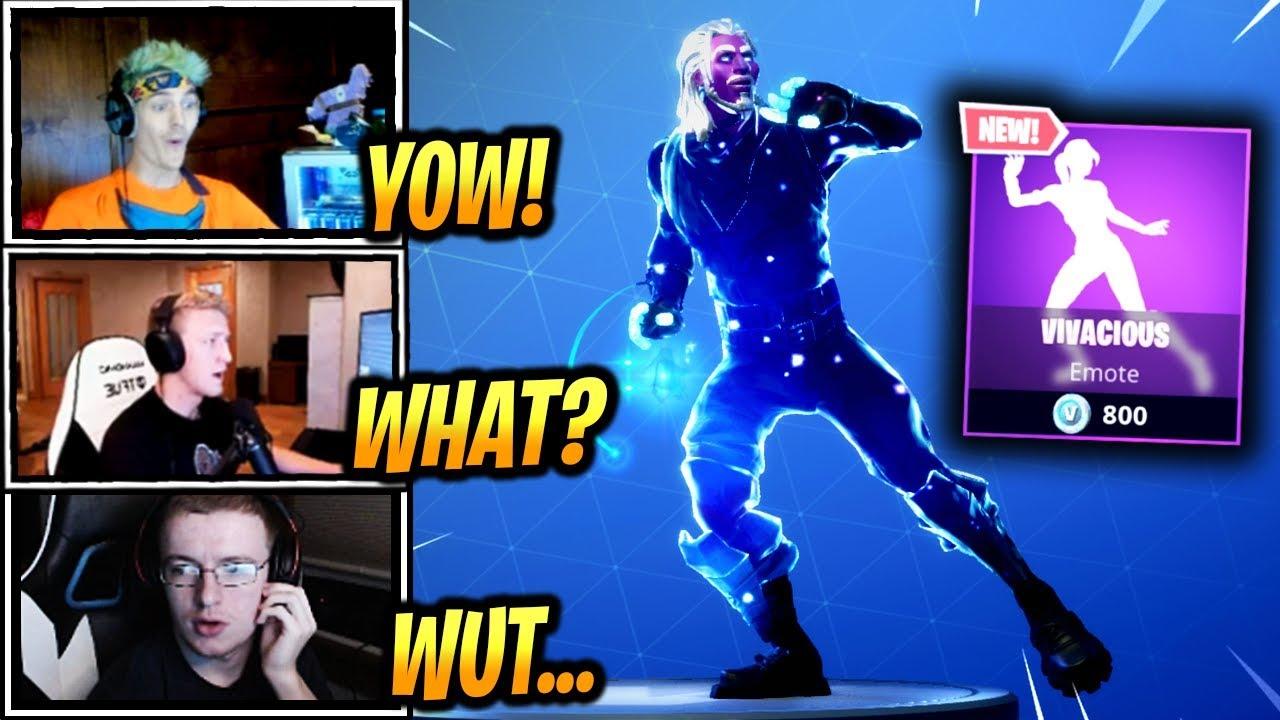 Streamers React New Vivacious Dance Emote Fortnite Epic Funny