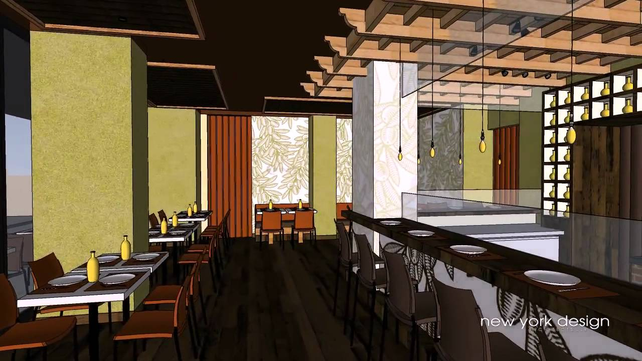 New York Design Architects Llp Restaurant Pizzeria Youtube