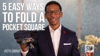 5 EASY Ways To Fold A Pocket Square