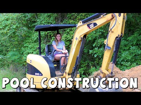 Amy Jo gets a Swimming Pool | Construction video | DCTC Amy Jo | Part 1