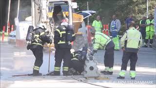 03.09.2018 Voldsom gasledning gravet over, Lyngby