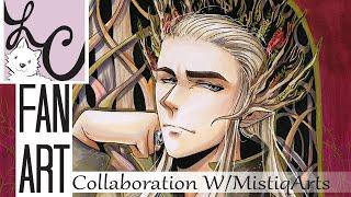 The Hobbit Thranduil Copic Marker Fan Art (Collaboration w/ MistiqArts!)