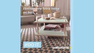 diy realisez une table basse en bois castorama