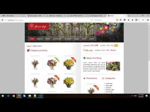 Building Flower Shop Website Template with Angular 6