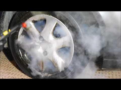 STEAM CLEANER, Limpieza de llantas con vapor karcher sg 4/4 Auto detailing