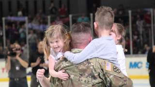 Sgt. 1st Class Joshua Headd Homecoming Surprise at Griffins Game