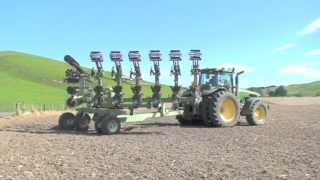 Orthman strip till setup and use in New Zealand with farmer Hugh Ritchie