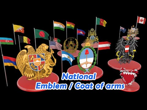 National Emblem or Coat of arms  of all Countries |