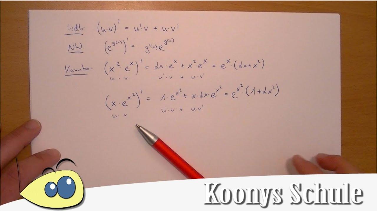 e-Funktionen ableiten in Kombination mit Produktregel | Mathe ...