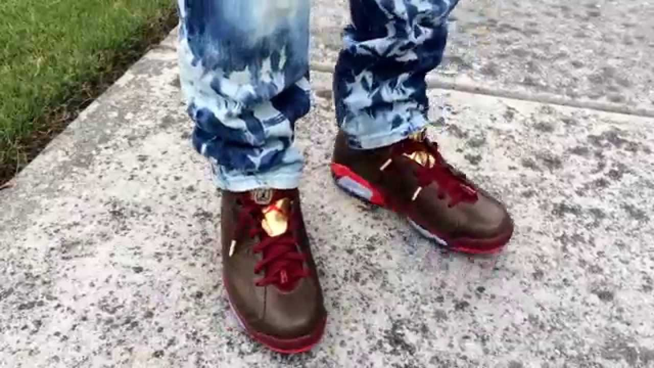finest selection b840f c3200 ... Jordan 6 Cigar On foot ...