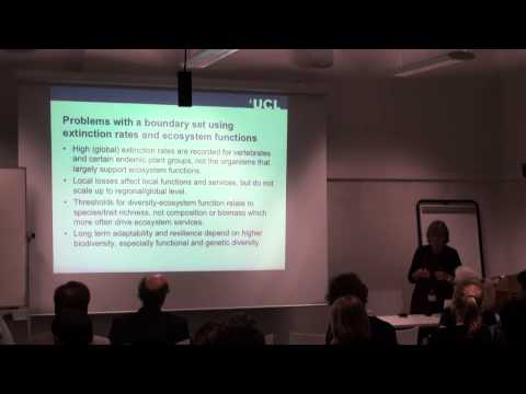 Biodiversity conservation in a resource hungry world, Professor Georgina Mace, UCL