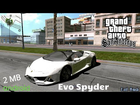 Lamborghini Huracan Evo Spyder 2020 For GTA San Andreas Android  2 MB