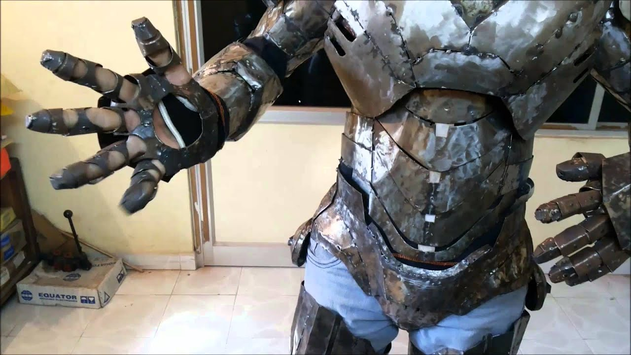 Parts Of An Iron ~ Iron man suit mark vi part quot hand metal