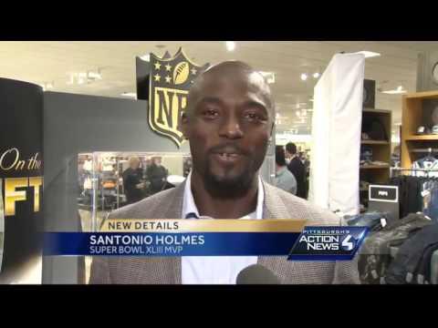 Santonio Holmes returns to Pittsburgh, former Steelers kicks off clothing line