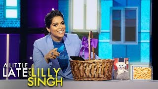 Lilly Cheers Up Justin Trudeau, Lori Loughlin with Gift Baskets