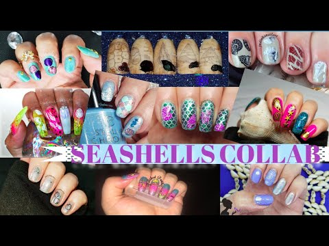 Stamping Nail Art Tutorial | Seashells Facebook Group Collab | judinkanailart ✓ thumbnail