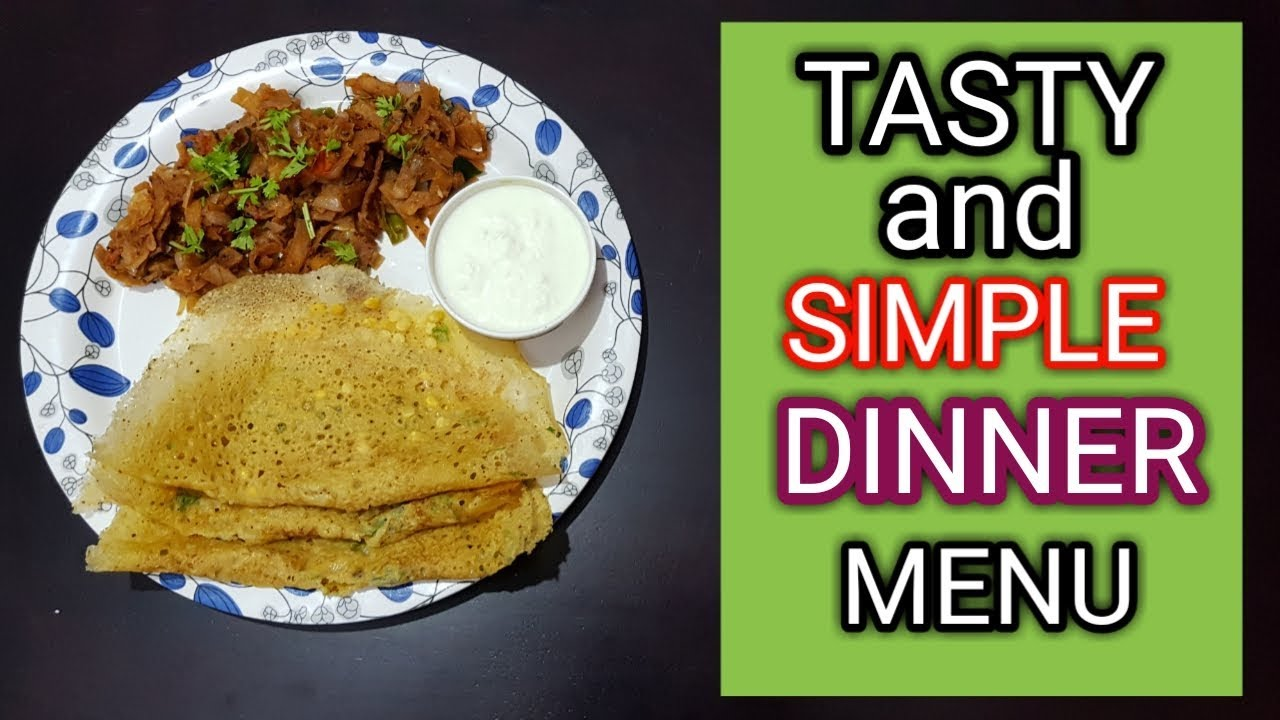Tasty And Simple Dinner Menu In Tamil Youtube