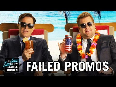 Thumbnail: Failed Network Promos w/ Stephen Colbert & James Corden