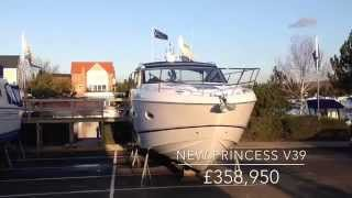 NEW PRINCESS V39 at Burton Waters Boat Sales 2015