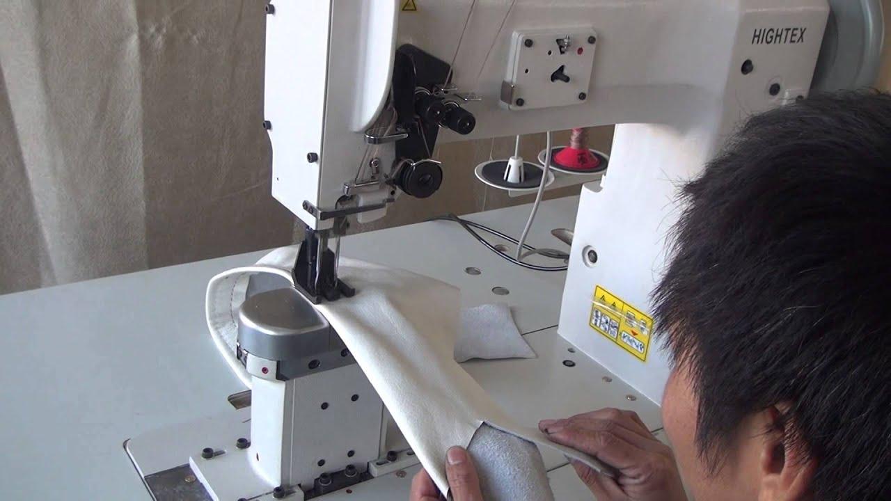 Máquina de 2 agujas triple arrastre de columna para