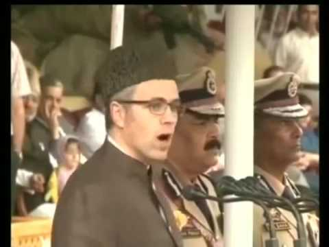 Jammu And Kashmir Omar Abdullah Hoist Indian Flag on Independent Day