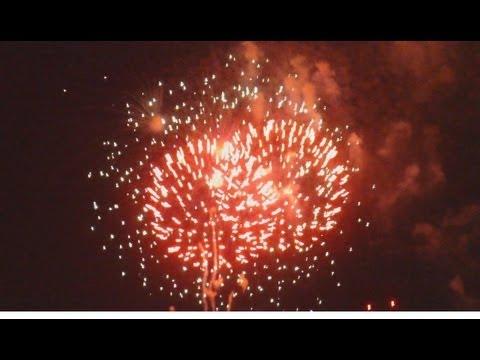 Fireworks Display Over The East River Near New York's RFK Bridge