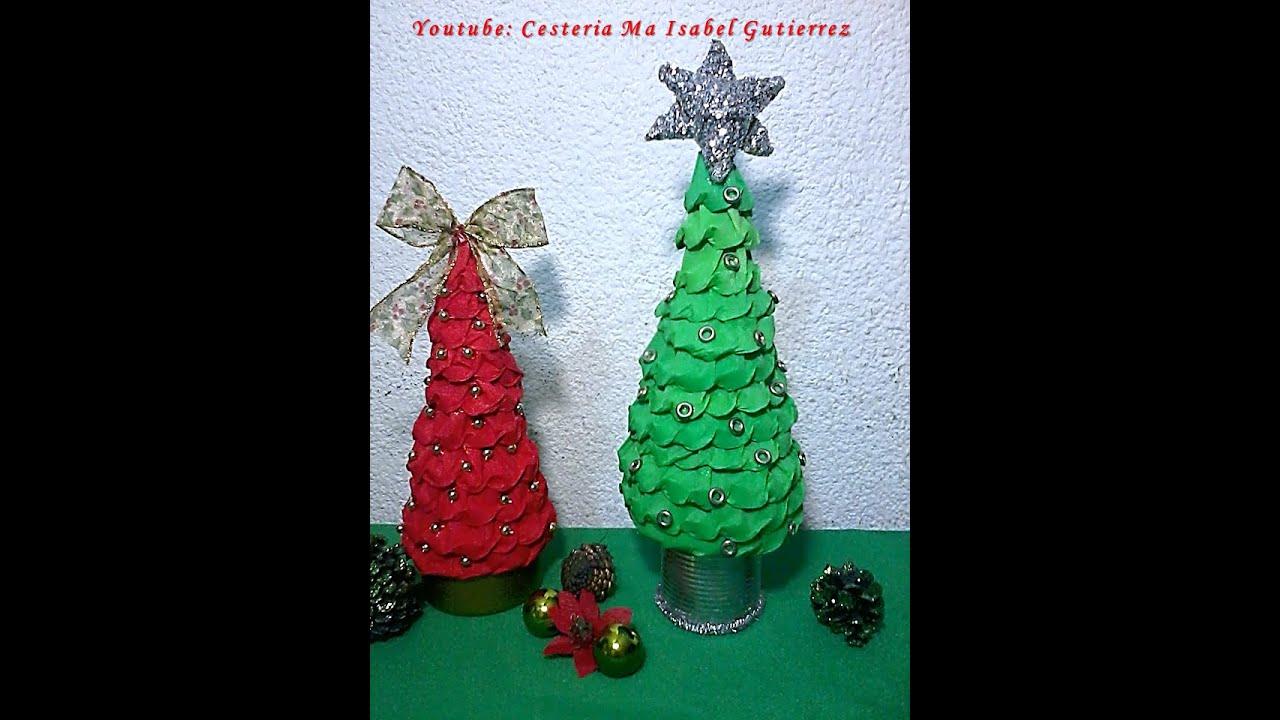 Pinos navideños de papel. DIY. How to make paper Christmas trees ...