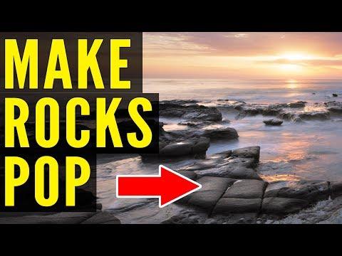How To Enhance ROCKS In Photoshop: Dodge & Burn Tutorial
