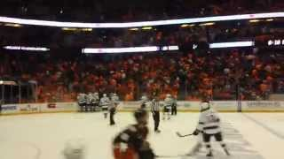KINGS Score in O.T VS Ducks  !!!! freeway  playoff series !!! HD 4-3-14