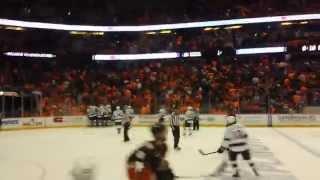 KINGS Score in O.T VS Ducks  !!!! freeway  playoff series !!! HD 4-3-14